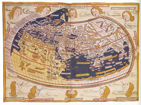 The first woodcut world map
