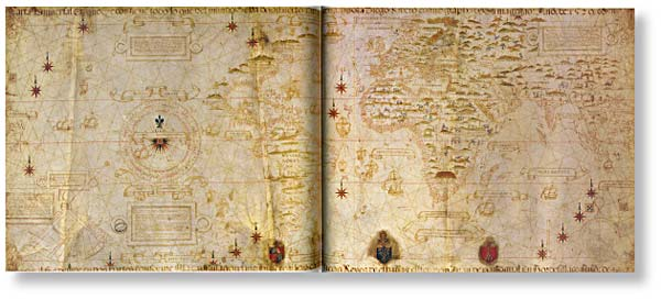 Diego ribero's map of the world (1529)