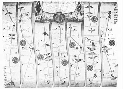 Strip map, 1670