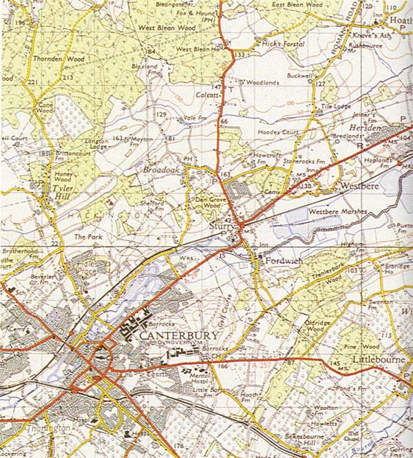 An ordnance survey map